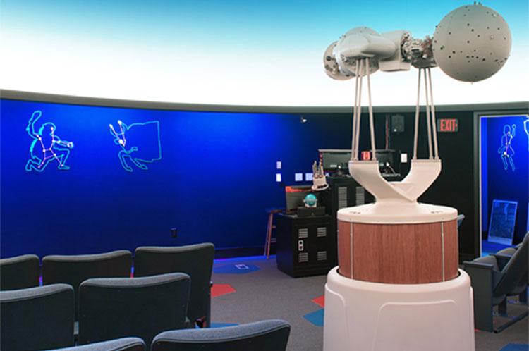 Yahn Planetarium at Penn State Behrend college.